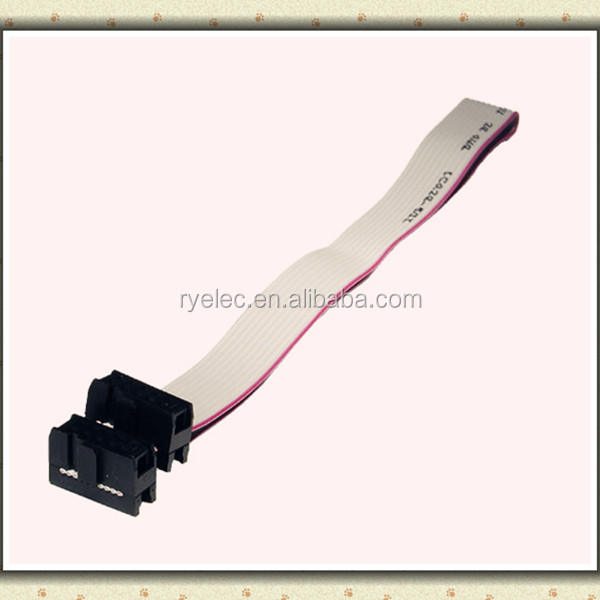 Flat Ribbon Cable, 14 Pin Female To 14 Pin Female, 16 Inch