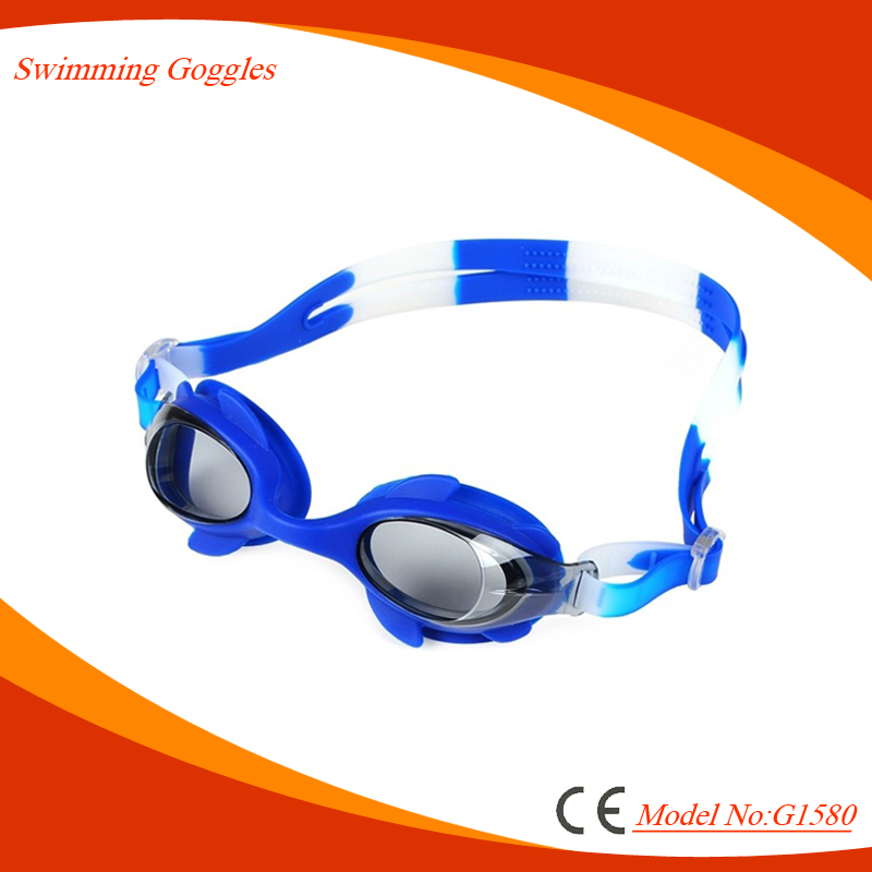 2017 One piece CE Certificated silicone Strap kids Swimming Goggles