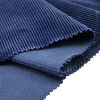 high quality cotton dyed navy corduroy fabric