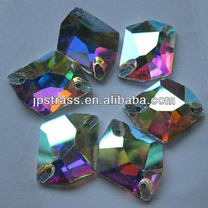 fashionable diamond glass beads