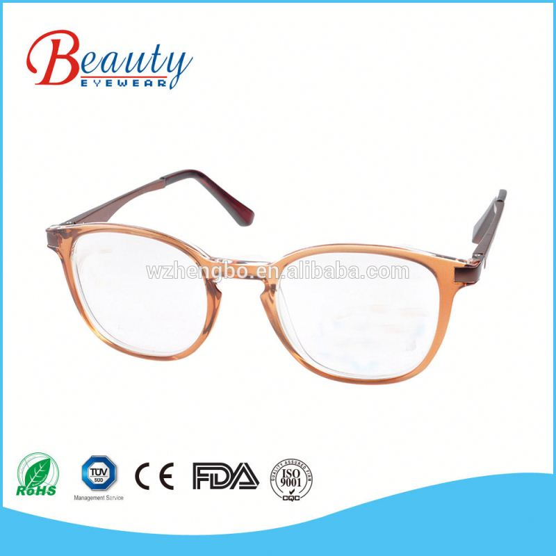 Vintage vogue customized female design variety changeable temple plastic reading eyeglasses frame