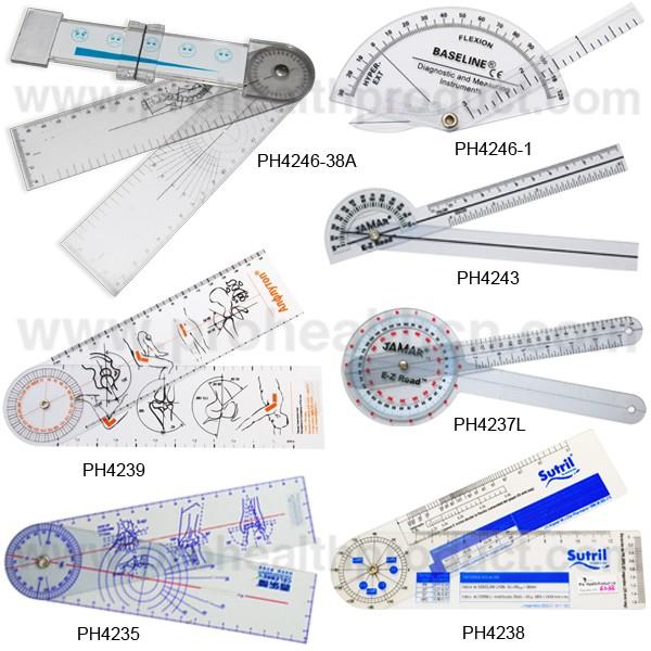 China Manufacturer Hot Sale Pvc Medical Goniometer Ruler