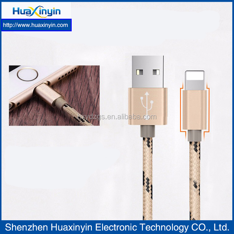 chinese supplier braided usb cable charge cable for iphone