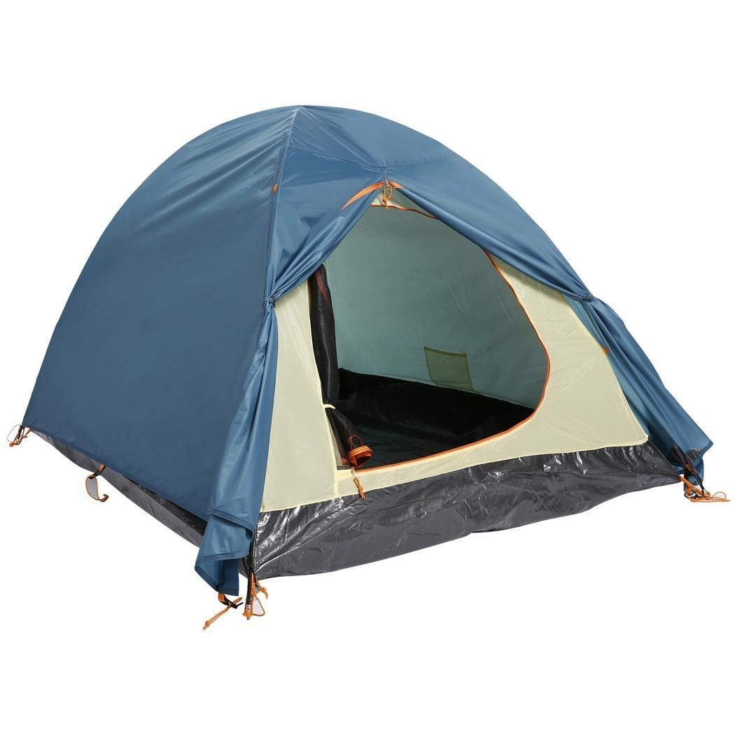 Kindsells Qenci Outdoors Tent 2 Person Camping Hiking Tent Dual Layer 2-Pole Freestanding Dome Tent for Family