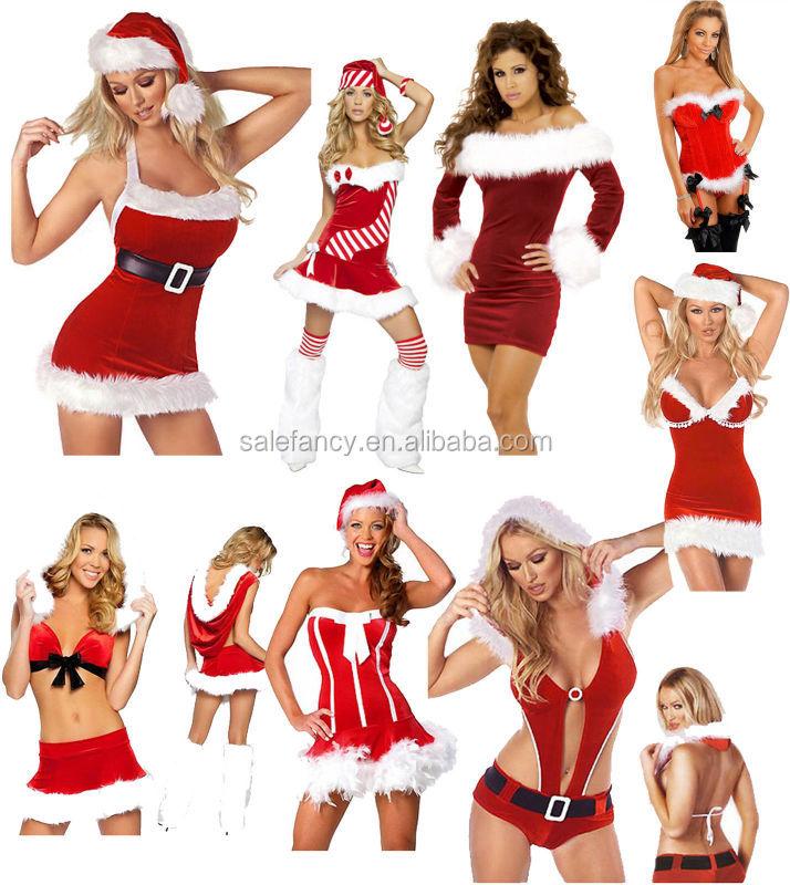 MRS SANTA CLAUS LADIES ADULT FANCY DRESS MISS CLAUSE COSTUME XMAS CHRISTMAS