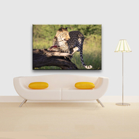 Golden Jaguar modern home decoration wild animal wall canvas painting