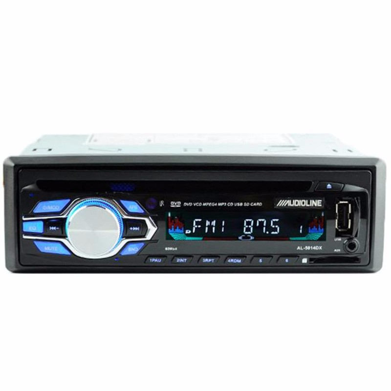 Single Din Car DVD CD Player Vehicle MP3 Stereo Radio Car-styling