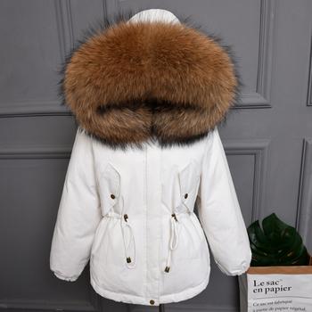 cf28524d1b3 Women Faux Fur Big Hooded Down Coat