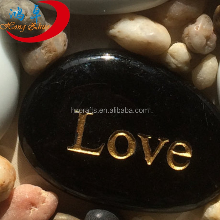 2017 new engraved flat river stone foil stamped inspirational stones wholesale success gifts