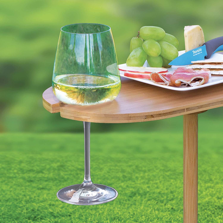 High Quality bamboo wine glass holder 5