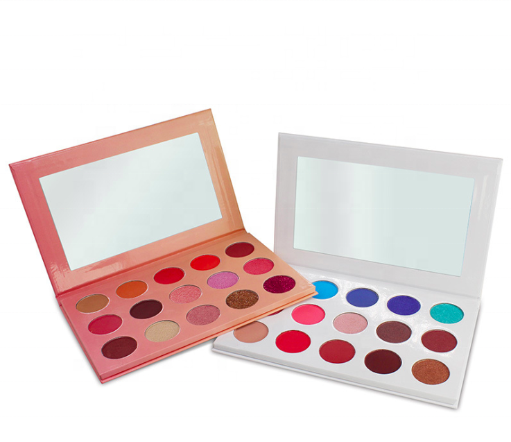 Hot selling 15 kleuren wit eyeshadow palette private label