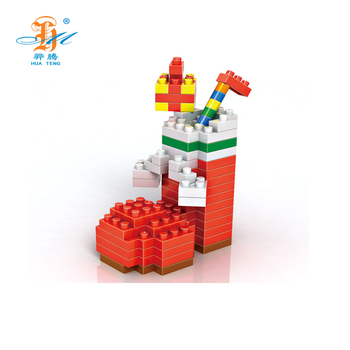 Top selling holiday series diy christmas boot mini funny blocks for gift
