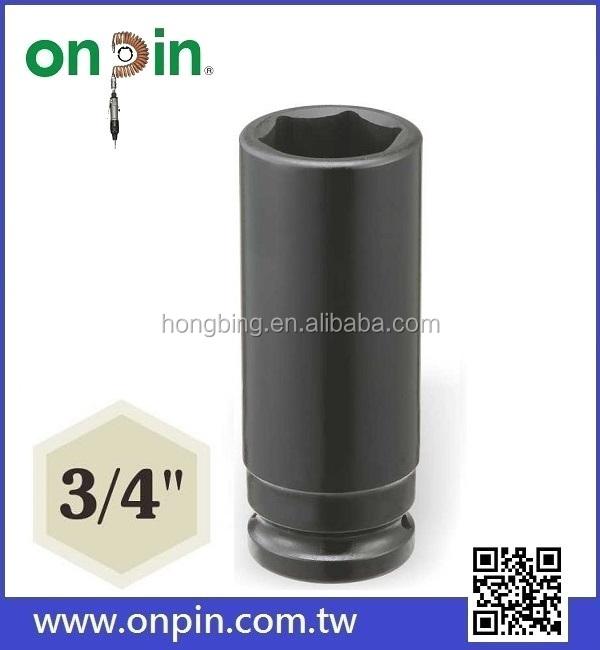 3/4 Deep Impact Socket 78mm Length Cr-mo Steel Air Sockets Wrench Head Nut Socket Pneumatic Wrench Head Hand Tools