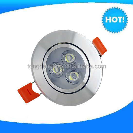 Hottest nice led downlight 3*1w ceiling modern crystal ceiling lamp factory direct selling