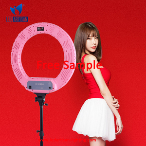 Network broadcast using studio light stand for face-painting, take selfies