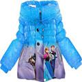 קמעונאות משלוח חינם הילדה אלזה הקפואה אנה הנסיכה מעיל לפעוטות ילדים דמות מצוירת הצעיף גלימה וצעיף ילדים, הלבשה עליונה
