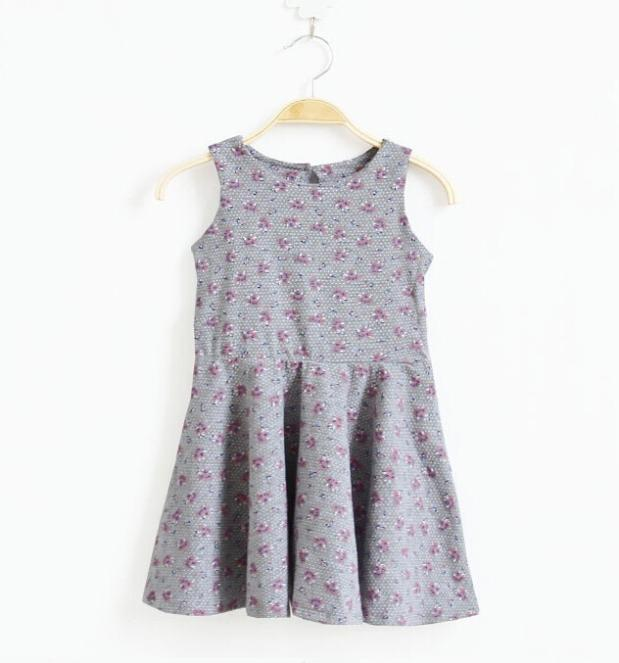 9b1293d1f0d1 Buy 2015 Summer Baby Girl Dress Flowers Patterns Girls Dresses Cotoon Child  Sundress European and American Style Children  39 s Clothing in Cheap Price  on ...