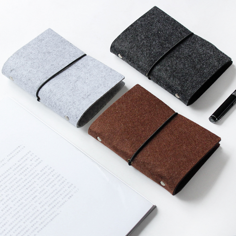Fashion Design Felt Notebooks Fabric Refillable A5 Diary with Elastic Band