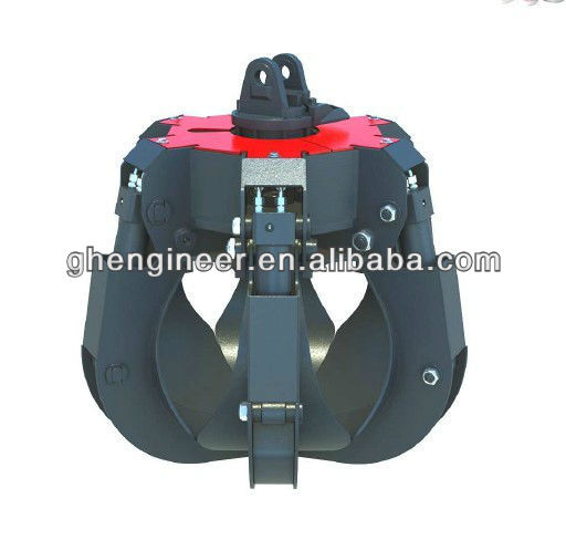 excavator Hydraulic orange peel grab bucket 2CBM machine