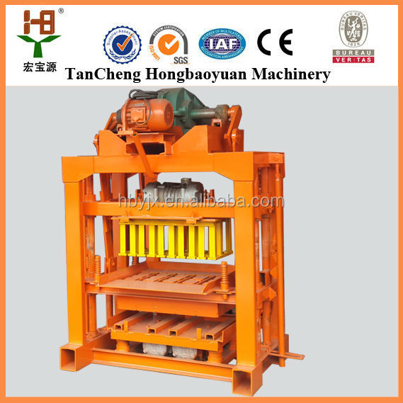 best seller factory electric brick machine QTJ4-40 low price small manual brick makine/concrete block making