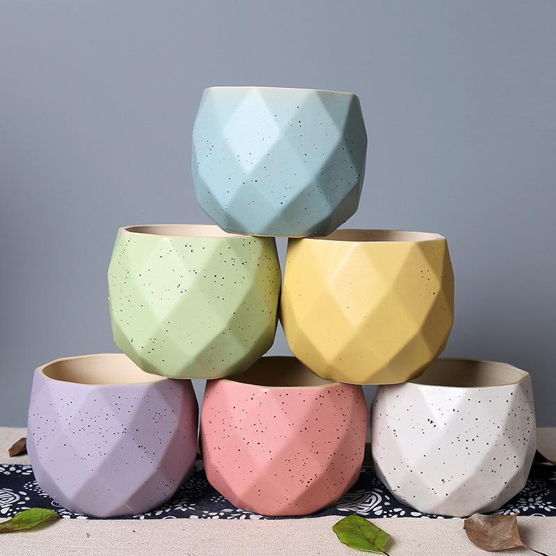 Grosir Mini Succulent Pabrik Keramik Bunga Planter Pot Meja Dekoratif Dalam Ruangan