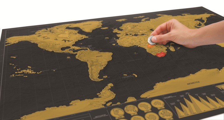 Factory price World Tracking Map Meaningful World Scratch Travelling Map for office home use