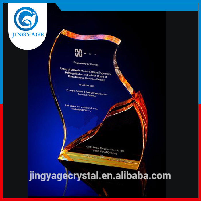 Quick response on inquiry free sample hotsell crystal award crystal trophy gift