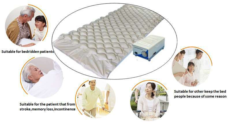 Anti bedsore bed used bubble medical inflatable anti-decubitus air mattress