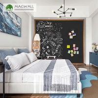 Magwall wholesale wood grain border writing board household children black magnetic board