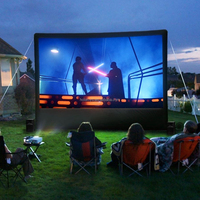 Outdoor inflatable movie screen/inflatable projector screens for party time