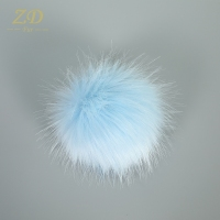 Baby mini fashion faux raccoon fur pom poms ball