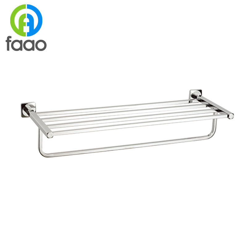 FAAO brass wall mounted decorative metal towel rack