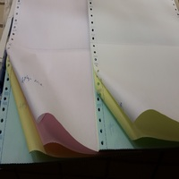 Grade A quality NCR carbonless continuous paper computer form 9.5 x 11 inch sizes