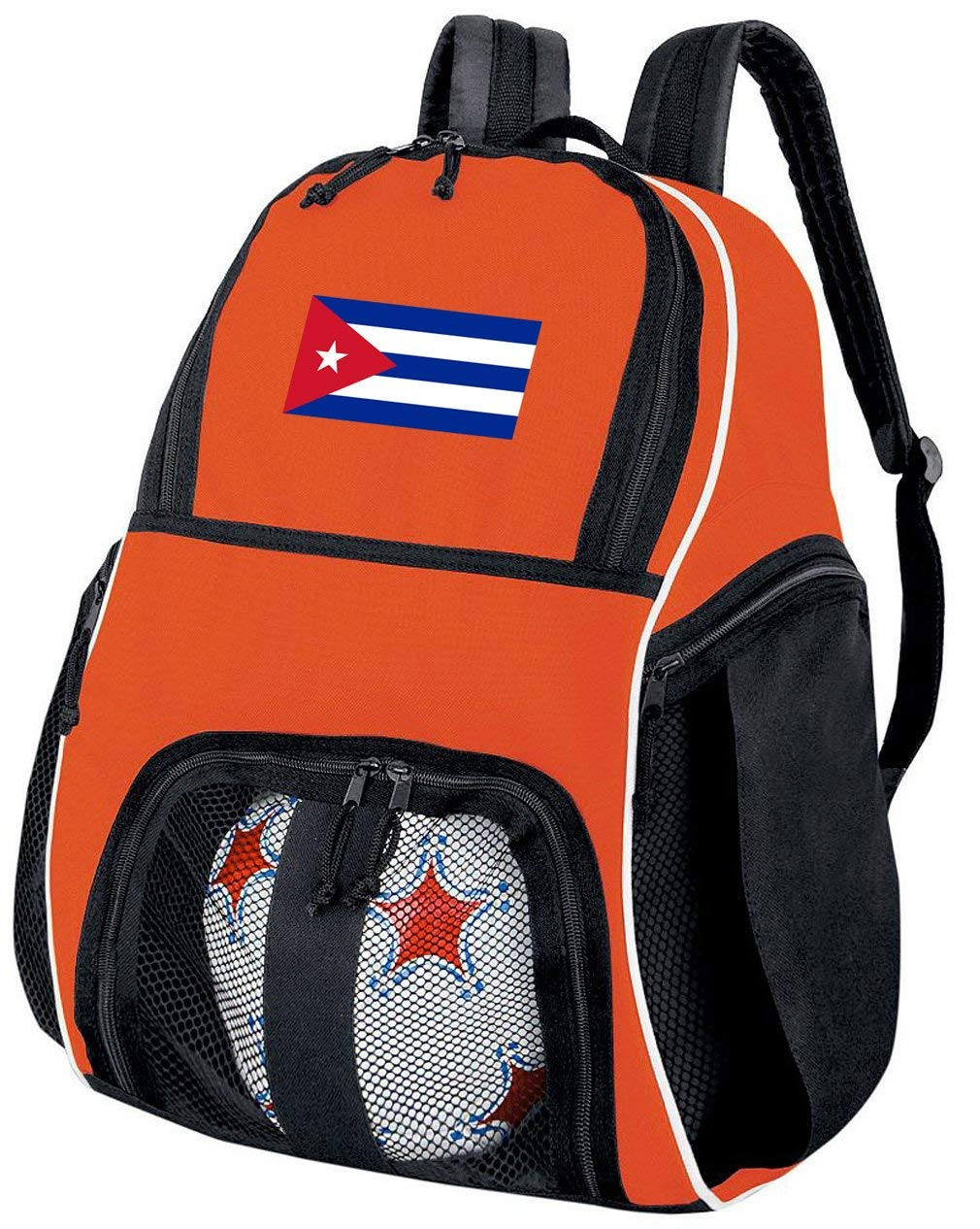 039e3d9c4ab4 Get Quotations · Broad Bay Cuba Soccer Ball Backpack or Volleyball Bag  Orange