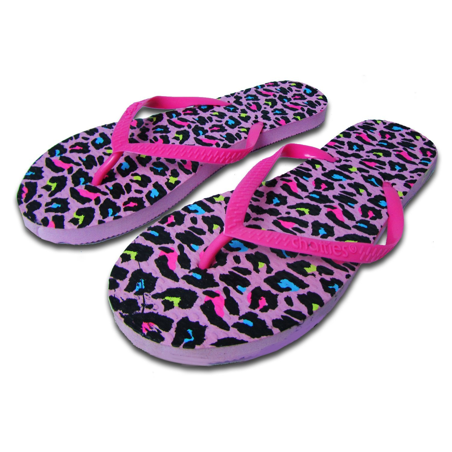 be2f277b2cf933 Get Quotations · Chatties Women s Casual Pink Rubber Flip Flops Slippers