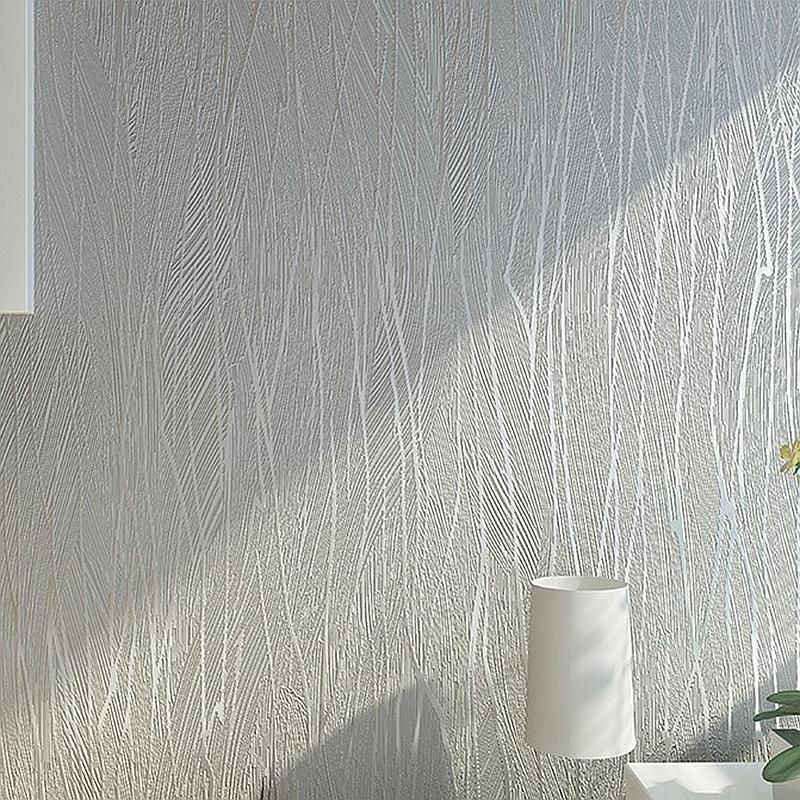 Color s lido moderna gris plata gris rayado papel pintado - Papel pintado plateado ...