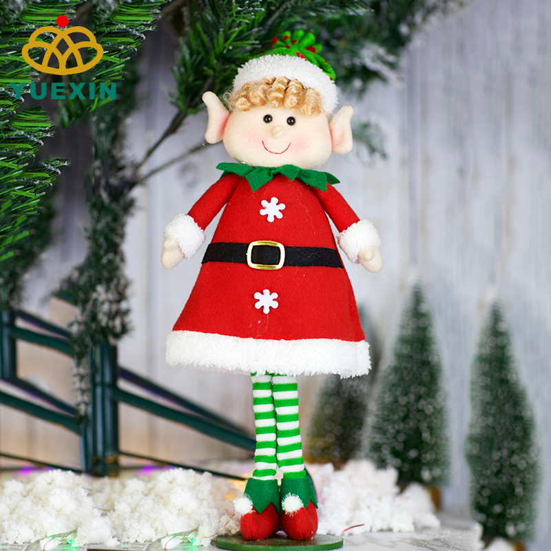 Commercio all'ingrosso 27 centimetri Peluche Seduta Elfo Di Natale giocattolo decorazione