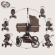360 degree rotating baby stroller luxury EN1888 2 in 1 or 3 in 1 Europe style