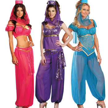 Women Bollywood Indian Princess Dancer Ladies Fancy Dress Costume All Sizes  BP3752
