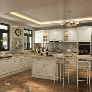 Frameless Solid Wood Durable Kitchen Cabinet