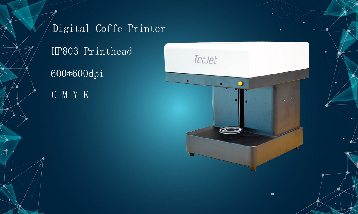 TECJET Promotion Price Digital Automatic Food Printing Machine for Coffee Candy Cake Printer