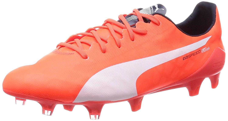 0d0150b14 Puma evoSPEED SL FG soccer shoes Football Men 103235 01 orange leightweight