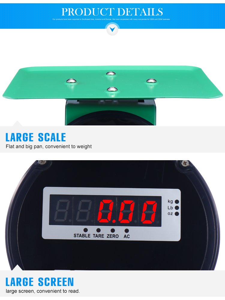new LED pricing weighing scale