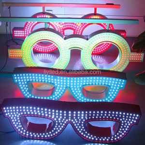 LIYI Optpelectronics infrared remote control led optic sign /optic shop led neon glasses screen sign