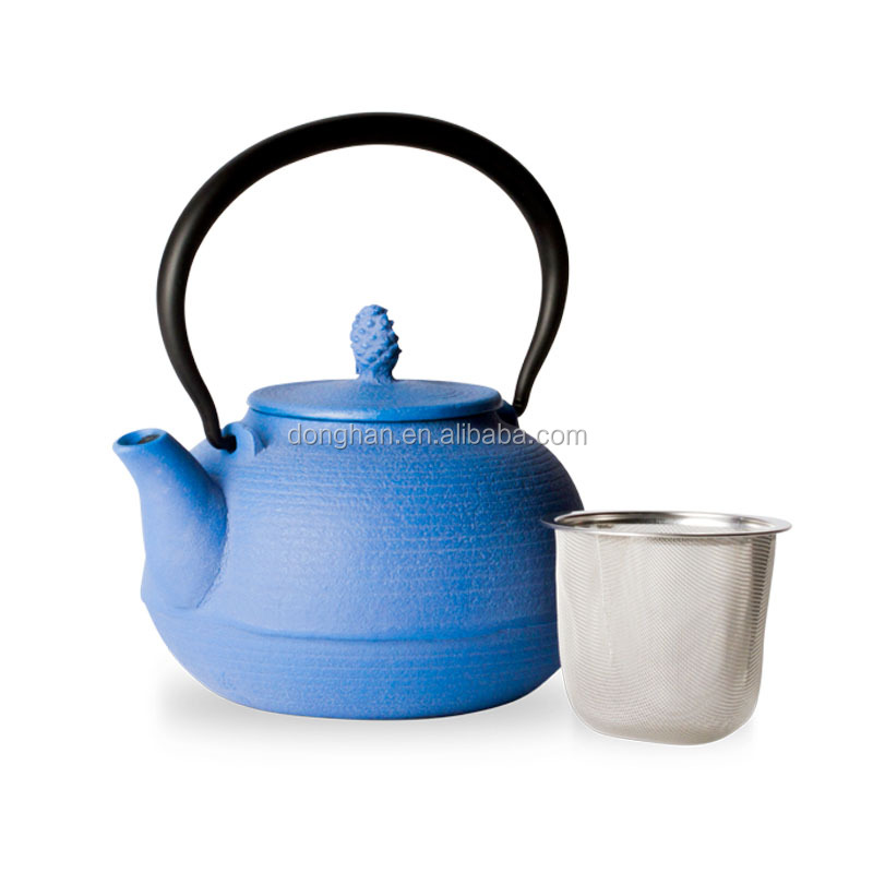 office enamel teapot with infuser stainless steel material and cover