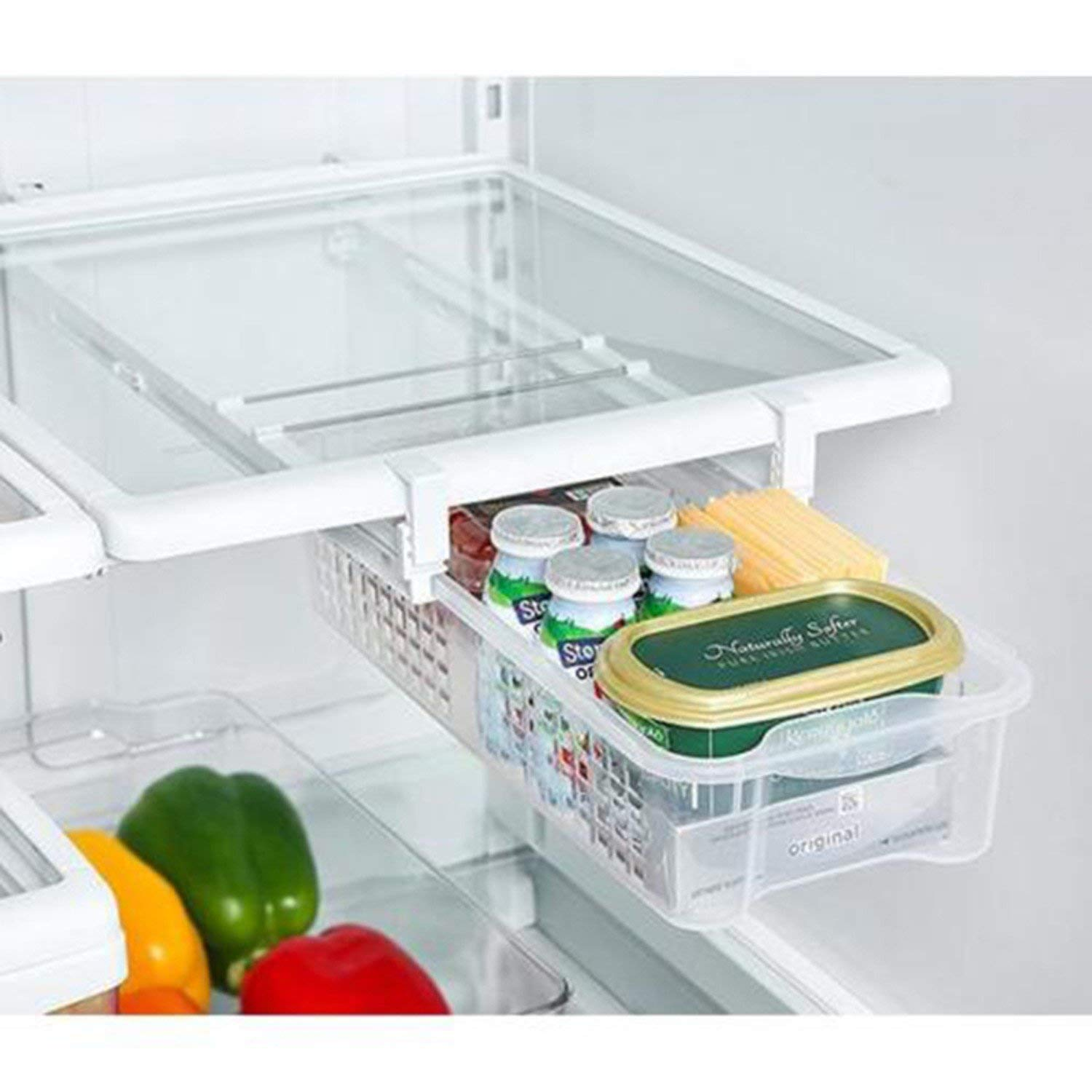 Refrigerator Pull Out Bins Snap On Drawer Fridge Mate Shelves Storage Organizer Refrigerator Storage Box Fridge Organizer Bins