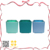Cute gift 2019 2020 blue-green series decorative candle holder
