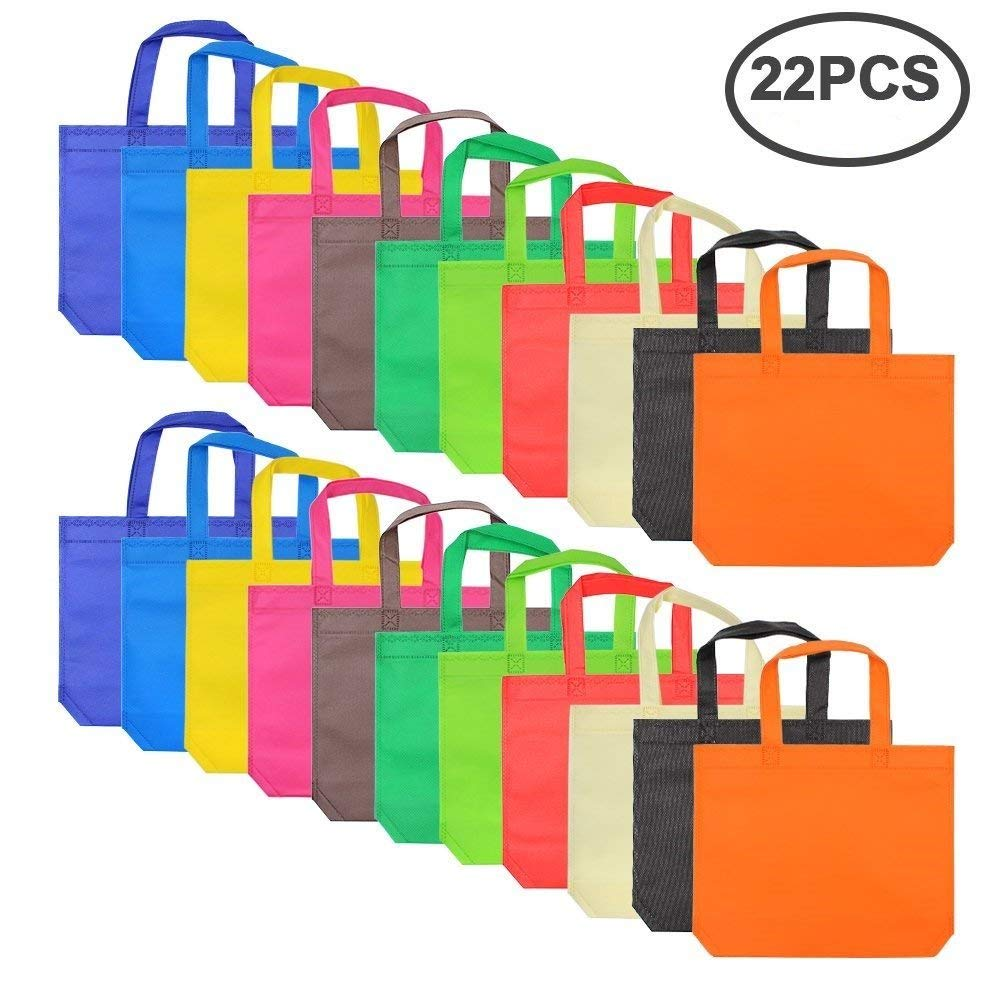 Get Quotations 22 Packs 11 Colors Party Favor Tote Gift Bags Non Woven Goodie Treat With