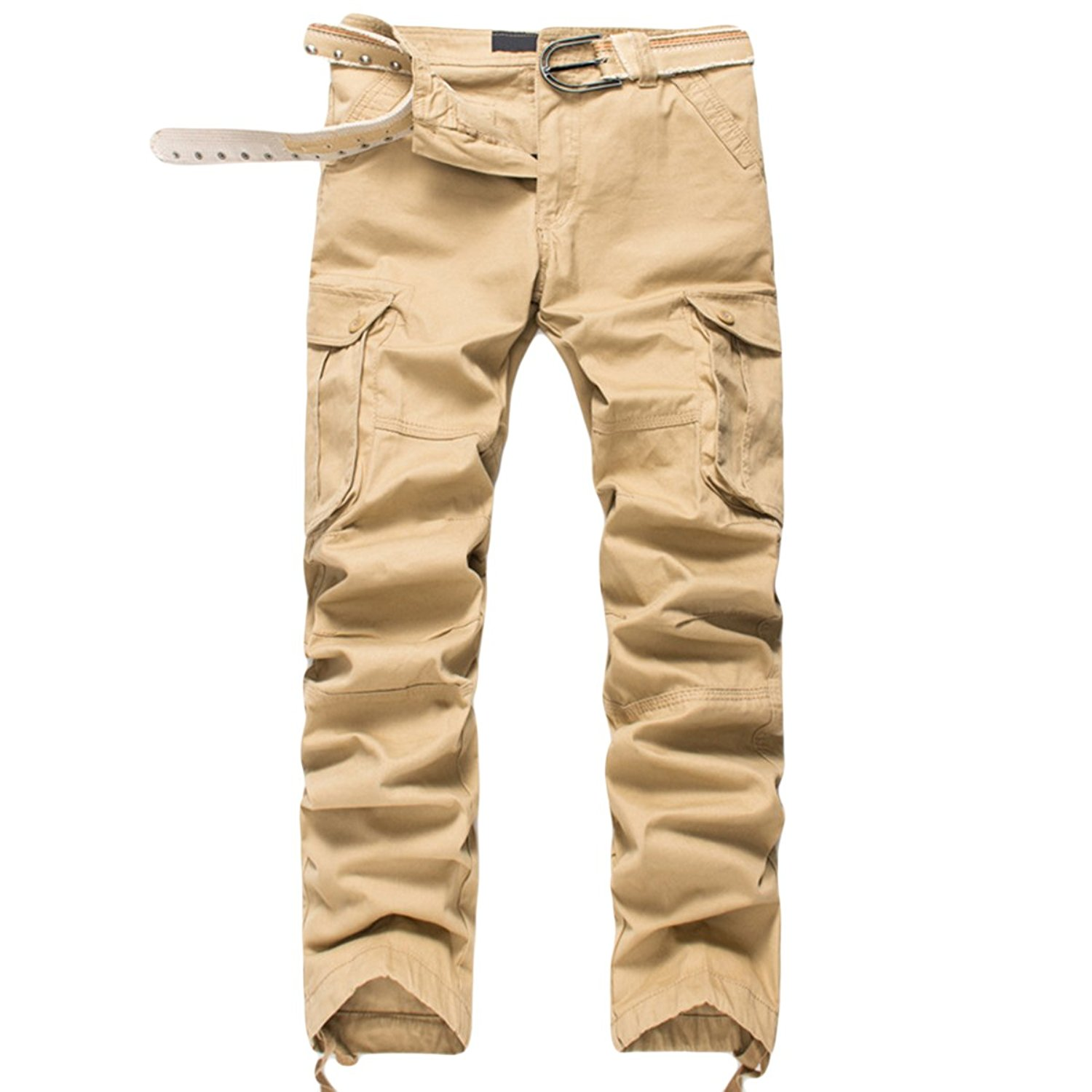 d97f2eeae5a Get Quotations · Pishon Men's Cargo Pants Cotton Wild Army Military Utility  Outdoor Casual Work Pants