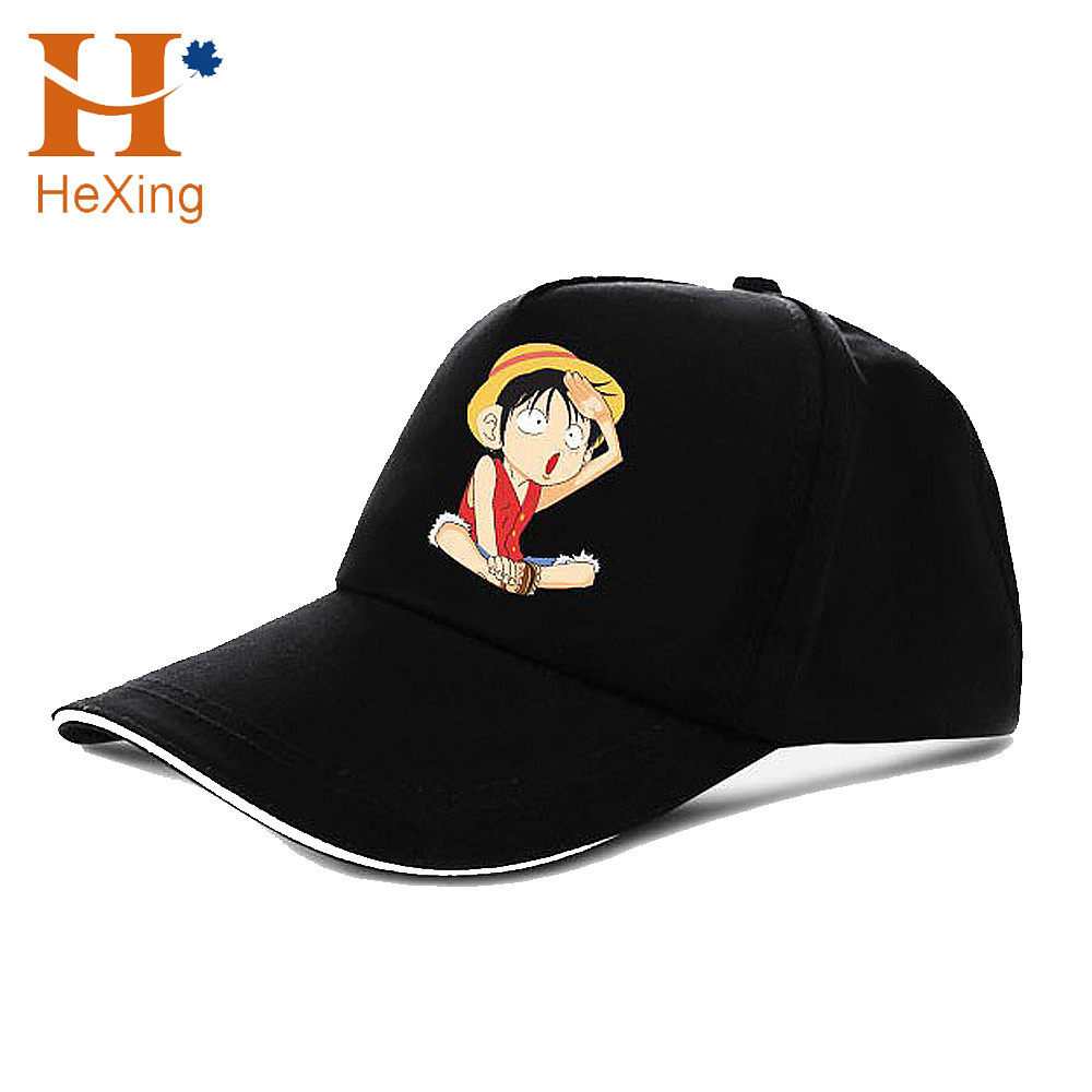 Custom Cartoon ONE PIECE Black Red Embroidery On Front 5-Panel Pokemon Baseball  Hats fe7241bc2cc